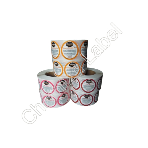 Printing Self Adhesive Labels, Customized Sauce Bottle Labels
