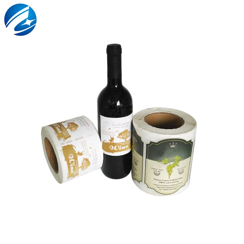 Custom Glass Bottle Beer Label,Self Adhesive Wine Hot Stamping Label Stickers